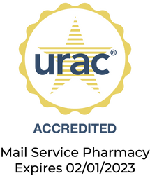Accredited by URAC - Mail service pharmacy